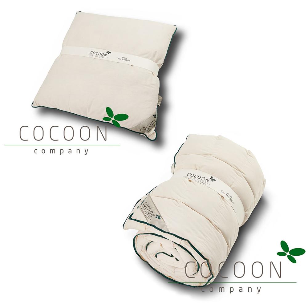Ekologiskt täcke Junior/Vuxen 150x210 cm + Kudde